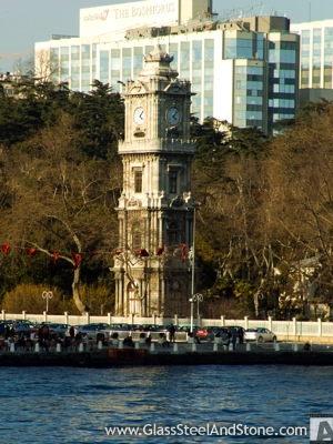 Dolmabaçhe Clock Tower in Istanbul, Istanbul