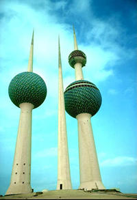 Kuwait Towers in Kuwait City, Kuwait